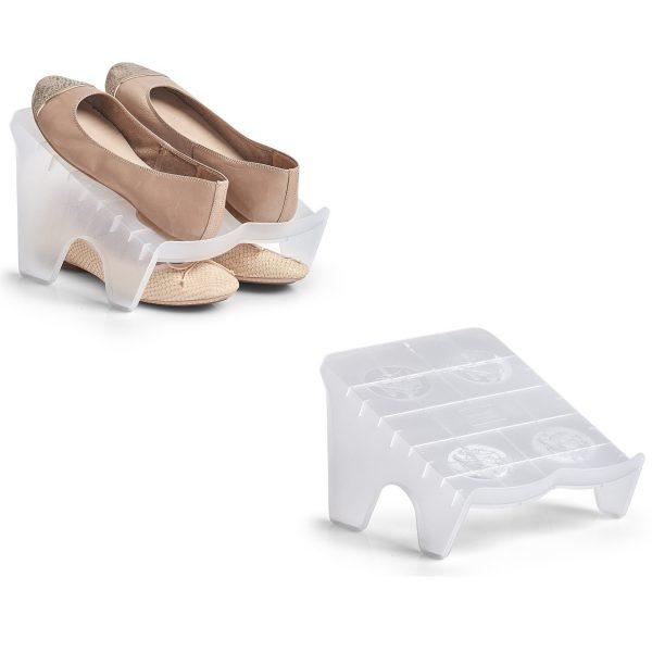 3x Kunststof inzetrekjes/plankjes voor schoenen 23 x 25 cm -