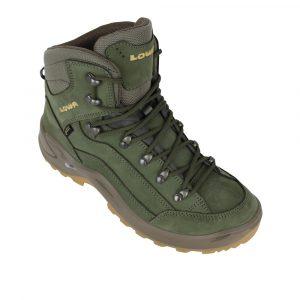 Lowa Renegade GTX MID wandelschoenen dames groen/bruin