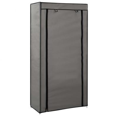 vidaXL Schoenenkast met hoes 58x28x106 cm stof grijs - vidaXL